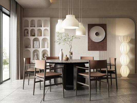 侘寂餐厅 餐桌椅