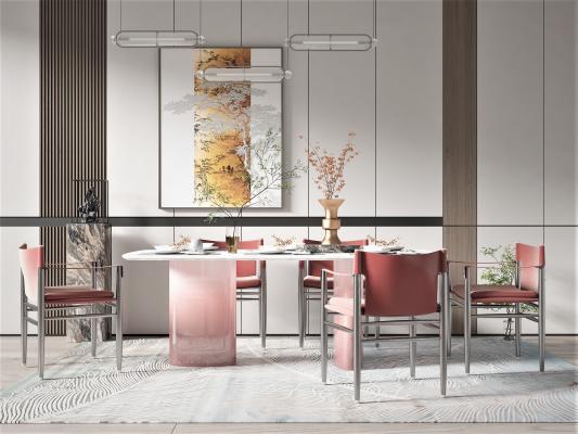 新中式风格餐厅 餐桌椅