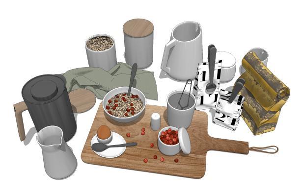现代厨房用品 调味瓶罐 食物