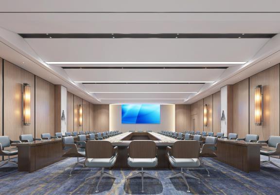 新中式会议室