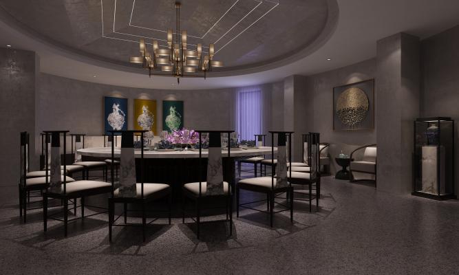 新中式酒店大包间