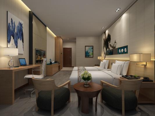 现代酒店客房