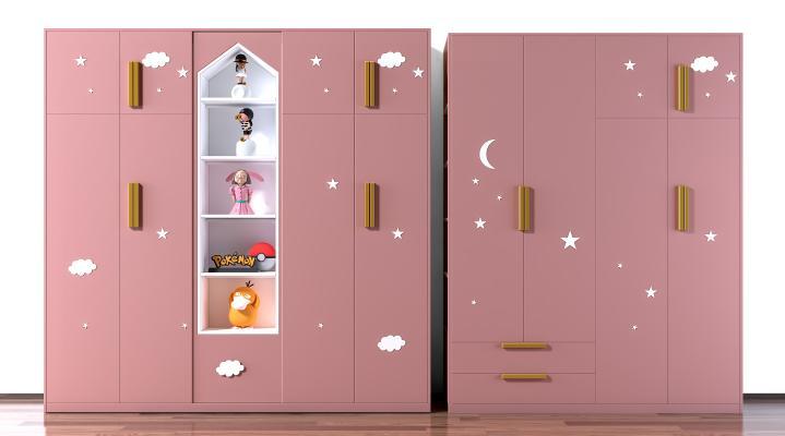 北欧儿童衣柜 衣橱 玄关 储物柜