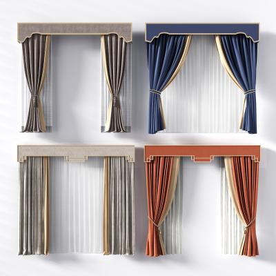 新中式窗帘 布艺窗帘