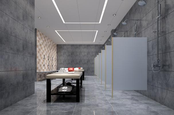 现代洗浴中心 浴室