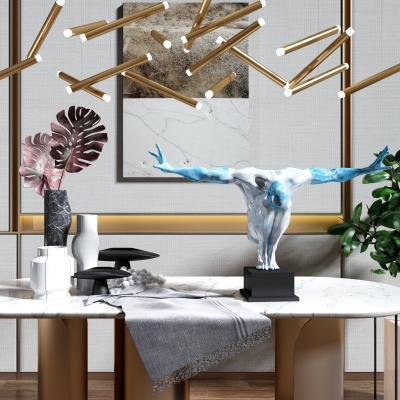 现代轻奢人物雕塑 摆件组合