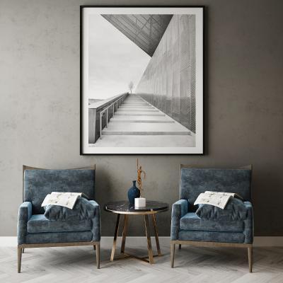 现代椅子组合 挂画