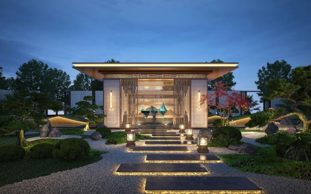 新中式凉亭景观