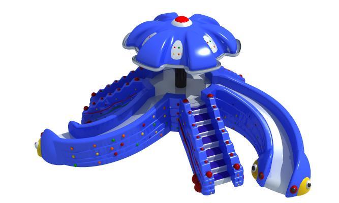 现代风格游乐设备 章鱼滑梯