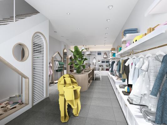 现代儿童服装店