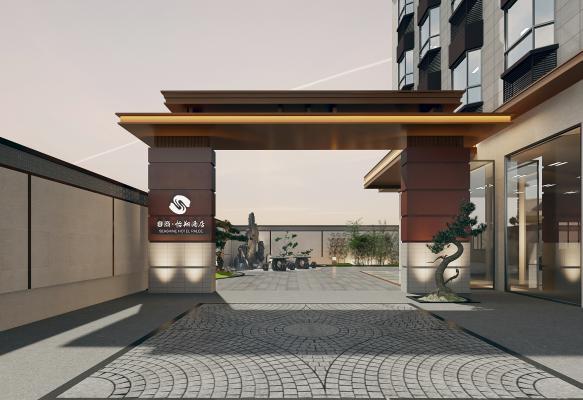 新中式酒店庭院