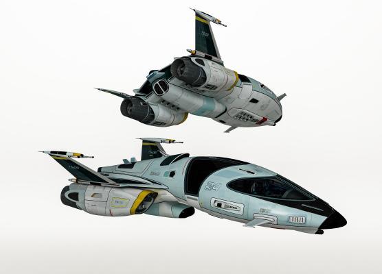 现代未来科幻宇宙飞船 喷气式战斗机