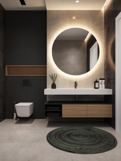 现代简约卫生间 镜子 浴室柜