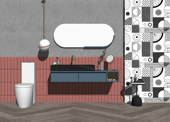 北欧卫浴小件组合 洗手台