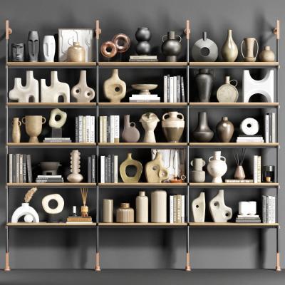 现代陶罐饰品摆件组合 装饰品 土陶罐