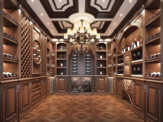 美式酒窖 酒柜 红酒