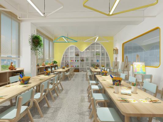 北欧风幼儿园 美术室
