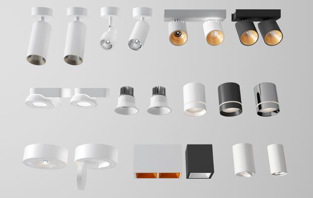 現代筒燈射燈