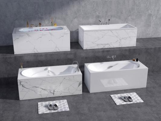现代浴缸 嵌入式浴缸 陶瓷浴缸