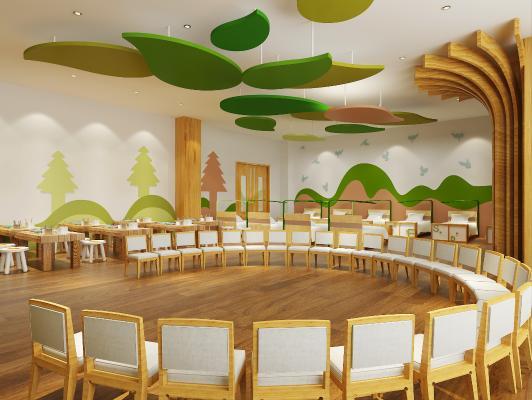 现代儿童教室 教室 室内教室
