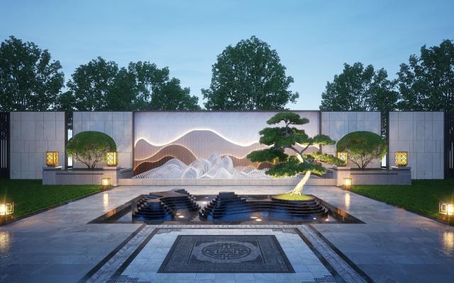 新中式庭院水景觀