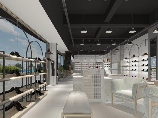 現代鞋店 女鞋店 直播間展廳