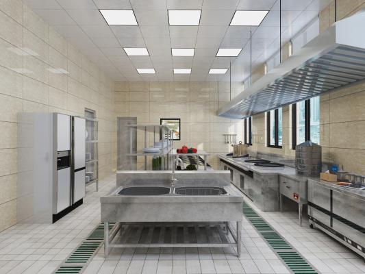 現代酒店廚房 酒店后廚 糕點廚房