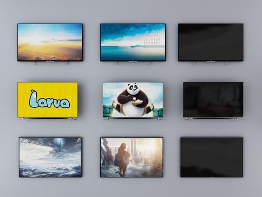 现代风格电视机 液晶电视