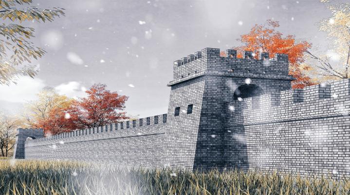 中式风格景观小品 烽火台