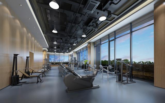 现代健身室