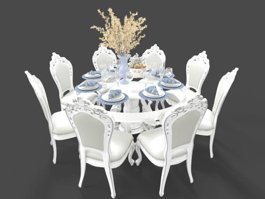 欧式风格餐桌 餐椅