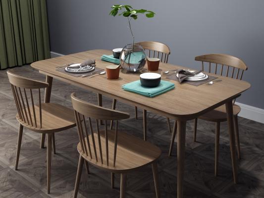 現代餐桌椅組合
