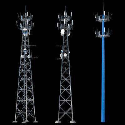 现代信号塔 通讯塔 电塔