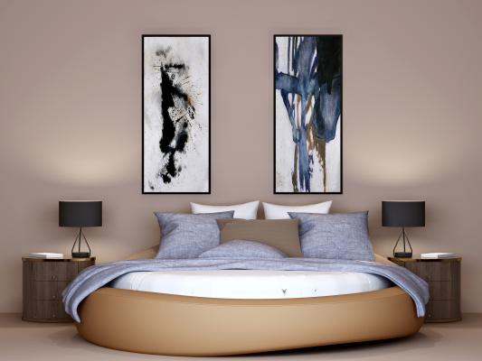 现代风格时尚圆床