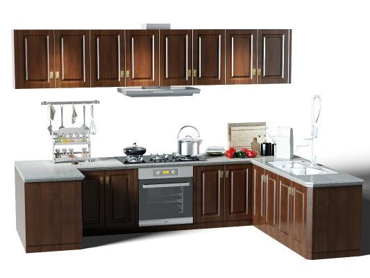 歐式簡約廚房櫥柜 廚具 裝飾柜