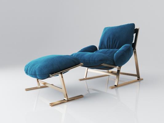 现代布艺休闲躺椅