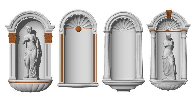 欧式壁龛 人物雕像 建筑构件
