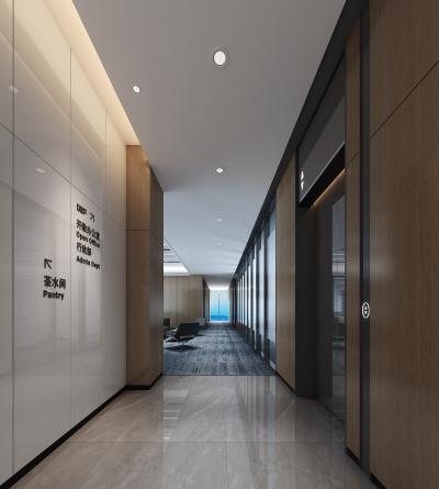 现代走道 电梯厅 办公室