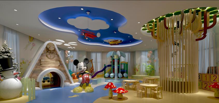 现代幼儿园教室娱乐室玩具摆件