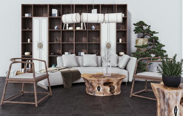 现代多人沙发 布艺沙发 休闲椅