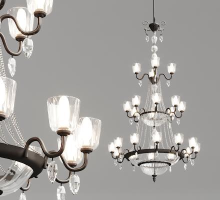 法式玻璃吊灯