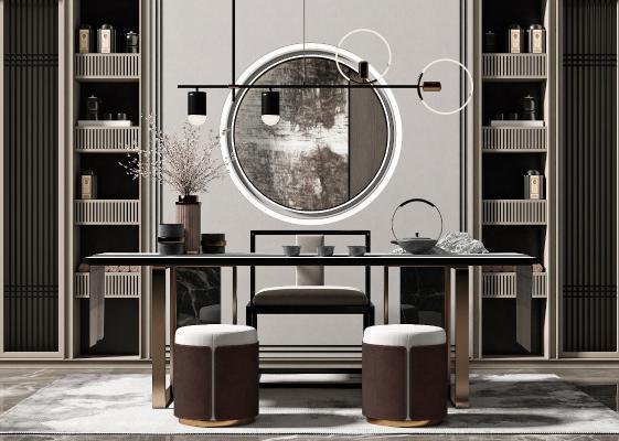 新中式桌椅 饰品 摆件 组合
