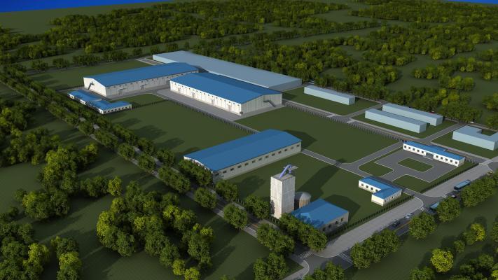 工业风格工业厂房 彩钢瓦 厂区