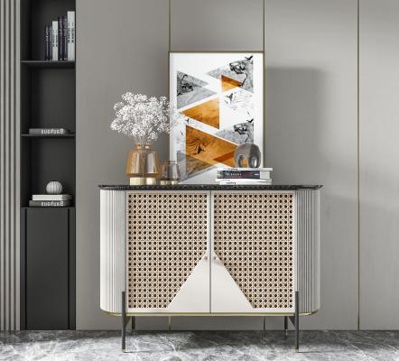 现代装饰柜 电视柜 雕塑 边柜 矮柜 餐边柜 装饰品 挂画 花瓶