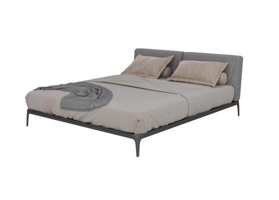现代简约轻奢平床 双人床