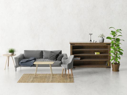 现代组合沙发 茶几 储物柜 边柜