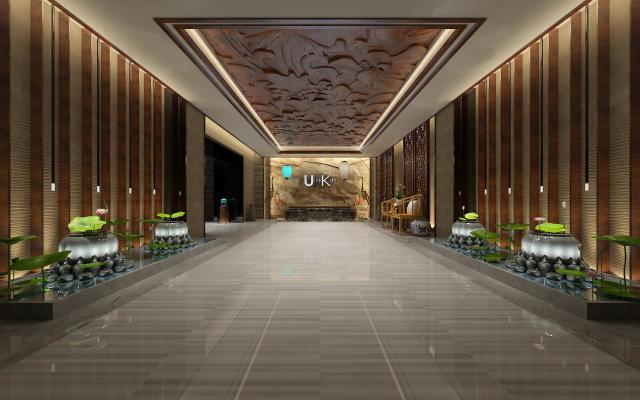 中式酒店接待前台
