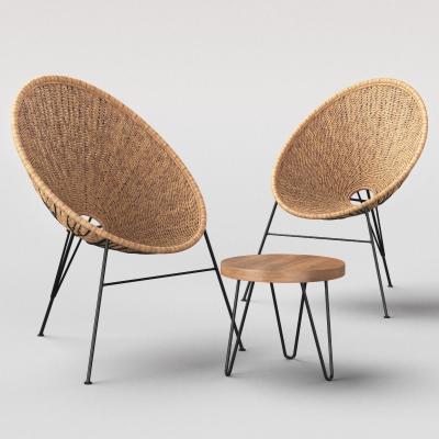 现代简约藤椅