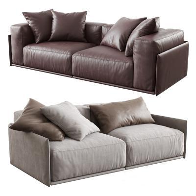 现代双人布艺沙发