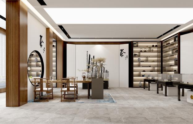 新中式禅意茶展馆